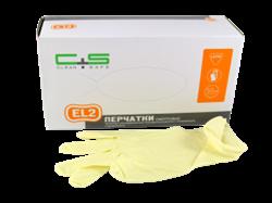 Перчатки латексные дв. хлорирования Clean+Safe S 50пар/кор - фото 6707
