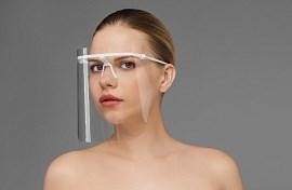 Маска пластмассовая прозрачная для защиты лица ЕЛАТ