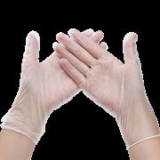 Перчатки виниловые неопудренные размер L 50пар/уп Disposable Gloves