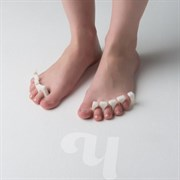 Разделители для пальцев 8мм белый 20 пар/уп Чистовье