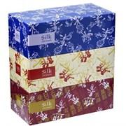 Салфетки бумажные двухслойные вытяжные Silk 250шт/уп