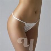 Трусы бикини женские белый Спанбонд р.54-58 25шт/уп Чистовье