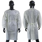 Халат одноразовый завязки на спине, рукав на резинке р.52-54/140см