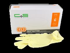 Перчатки латексные дв. хлорирования Clean+Safe S 50пар/кор