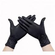 Перчатки нитриловые(с добавлением винила) черные размер М