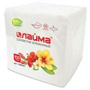 Салфетки бумажные однослойные 100шт/уп белые