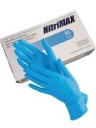 Перчатки нитриловые синие, размер М 50/пар NitriMax