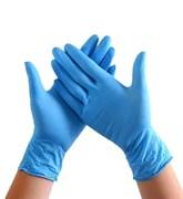 Перчатки нитриловые смотровые нестерильные неопудренные  Benovy М (голубые) 100 пар/уп