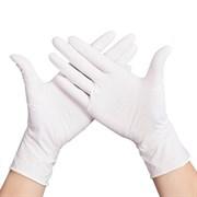 Перчатки нитриловые смотровые нестерильные Супермакс  ХS белые 100пар/уп