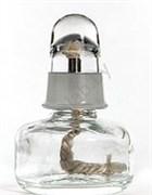 Спиртовка стеклянная с металлической оправой, 100 мл